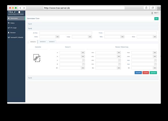 TRA.X Traceability Software: Screenshot 2
